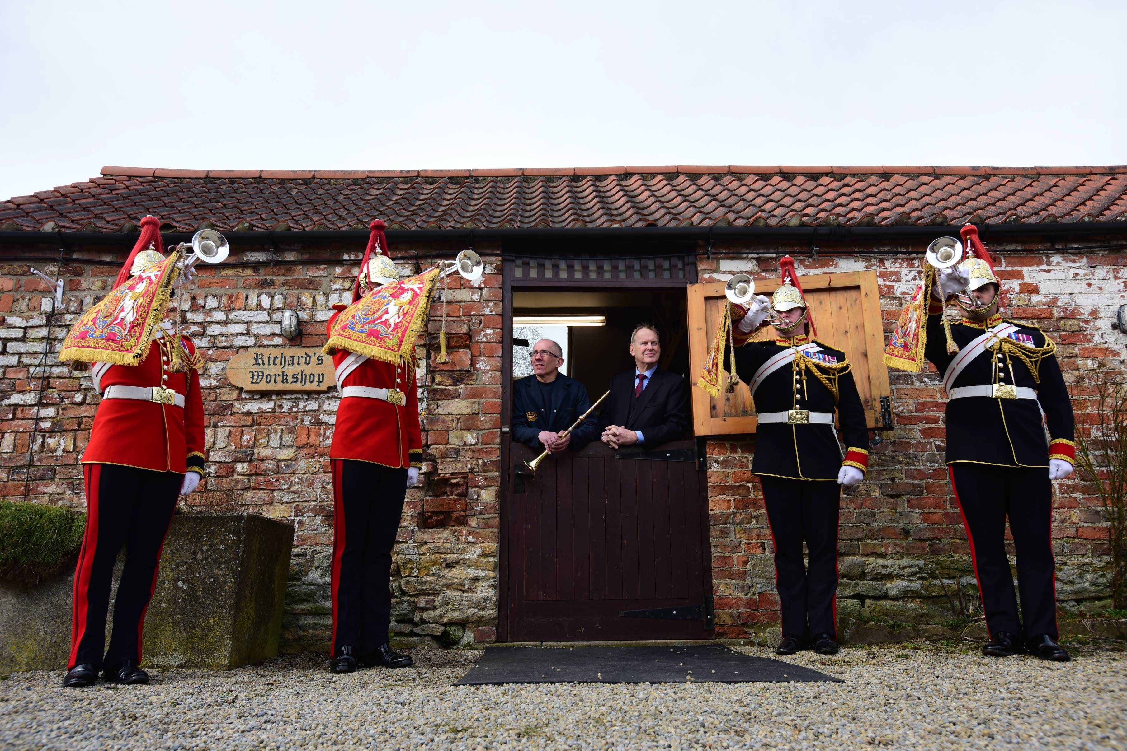 A right royal inspection of our Smith-Watkins fanfare trumpets